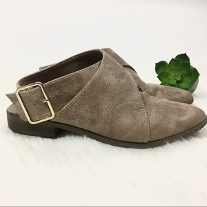 QUIPID Booties with ankle strap pointed toe